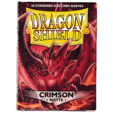 Dragon Shield Matte - Crimson (60 stk)