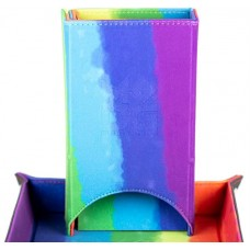 Fold Up Velvet Dice Tower Rainbow