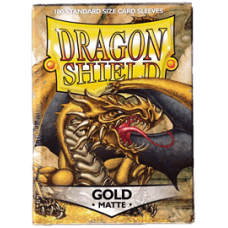 Dragon Shield Matte - Gold (100 stk)