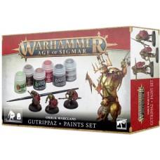 Orruk Warclans Gutrippaz + Paints Set