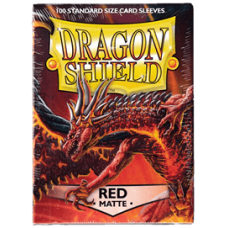 Dragon Shield Matte - Red (100 stk)