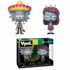 Funko VYNL 2-Pack: Rick & Morty - Rick w/ Sombrero & Unity Vinyl Figures 10cm