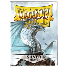 Dragon Shield Matte - Silver (100 stk)