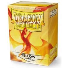Dragon Shield Matte - Yellow (100 stk)