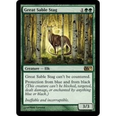 Great Sable Stag (Magic 2010 Core Set)