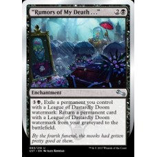 """Rumors of My Death . . ."" (Unstable)"