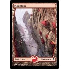 Mountain- Full Art v. 3 (Zendikar)