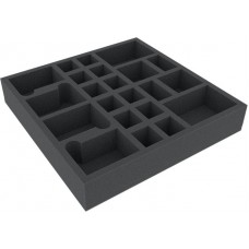 22 slot foam tray for board game boxes