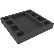 Foam tray with 9 compartments for board game boxes