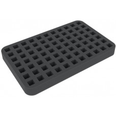 Half-size foam tray 77 square cut-outs for dice