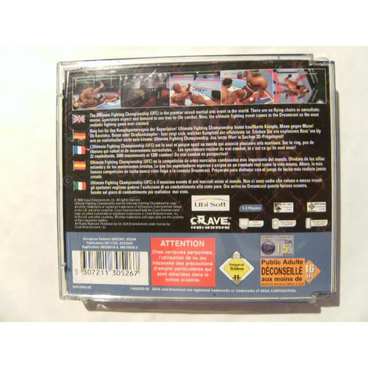 Ultimate Fighting Championship Dreamcast: Ultimate Fighting Championship For Sega Dreamcast